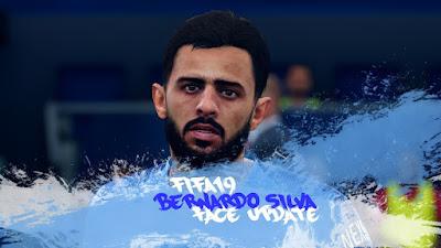 FIFA 19 Faces Bernardo Silva by CrazyRabbit