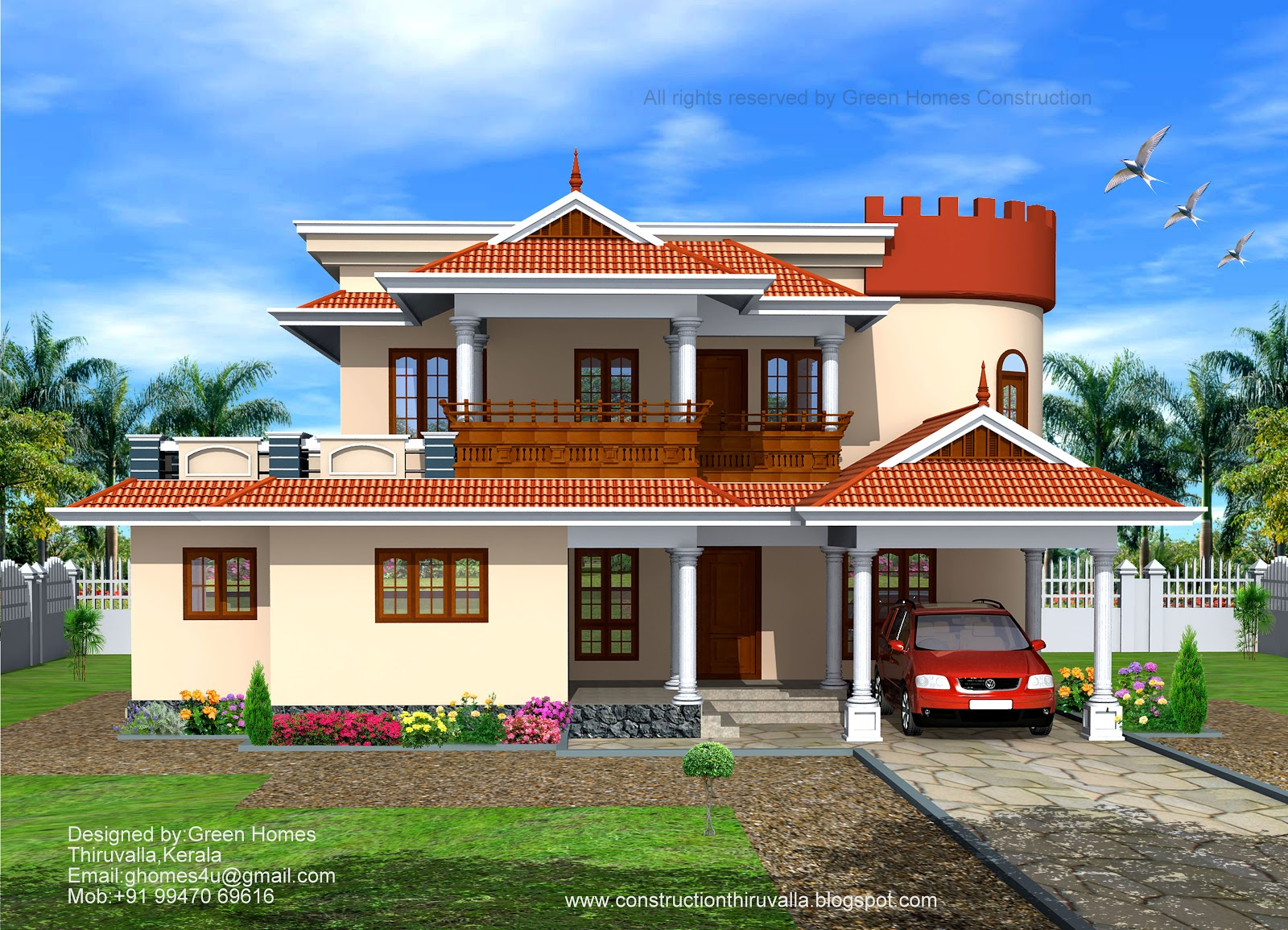 Green homes october 2012 for House front model design