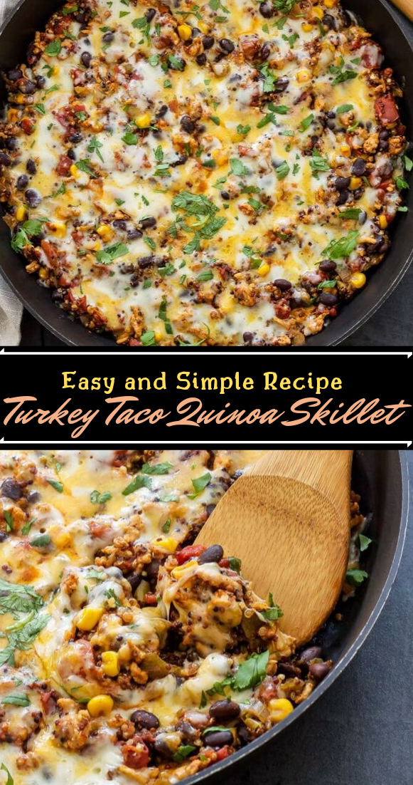Turkey Taco Quinoa Skillet #vegan #vegetarian #soup #breakfast #lunch