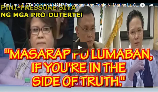 WATCH: De Lima, BISTADO NANAMAN? Pakinggan Ang Panig Ni Marine Lt. Col. FERDINAND MARCELINO