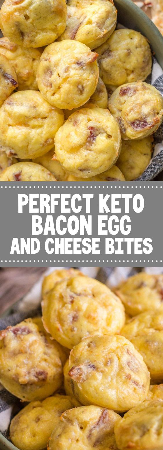 Perfect Keto Bacon Egg and Cheese Bites #keto #cheesebites