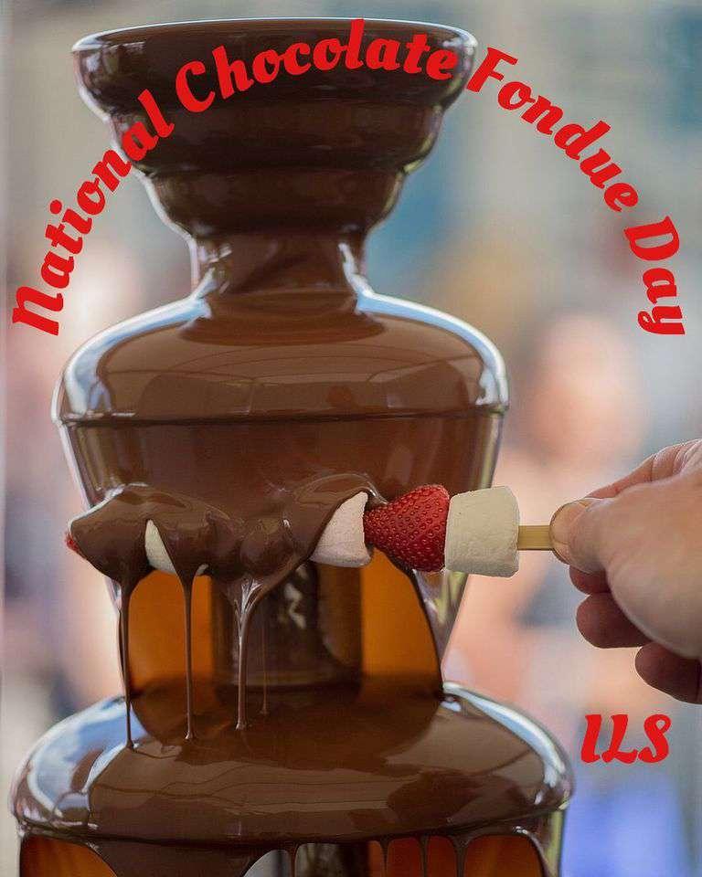 National Chocolate Fondue Day Wishes Beautiful Image