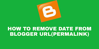 remove date from blogger url