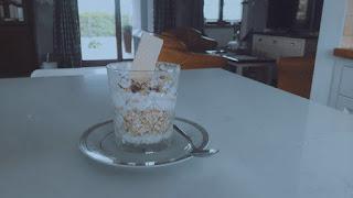Oatmeal, Chocolate and Yogurt Dessert Easy Recipe Healthy