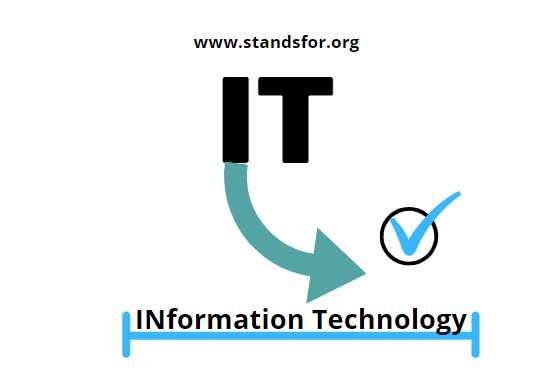 IT-IT stands for Information Technology.