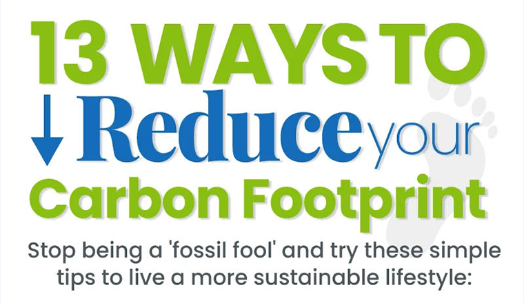 13 Ways To Reduce Your Carbon Footprint #infographic