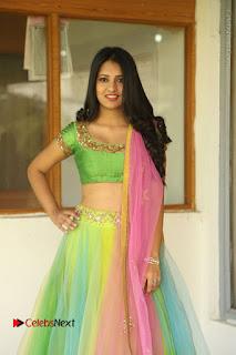 Actress Nikitha Bisht Stills in Lehenga Choli at Pochampally Ikat Art Mela Launch  0016.JPG