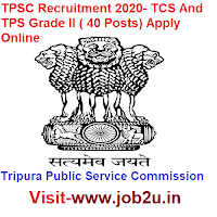 TPSC Recruitment 2020, TCS, TPS Grade II