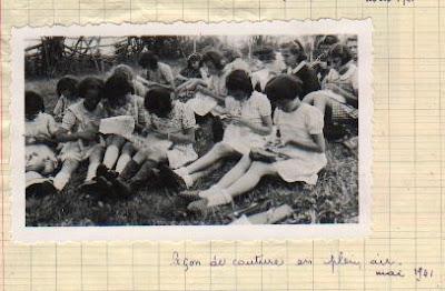 Classe promenade, mai 1941, école de Toulon-sur-Arroux (collection musée)