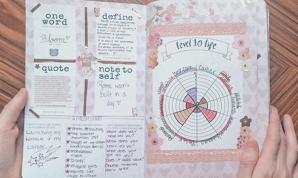 an example of January's activity in my Passion Planner small