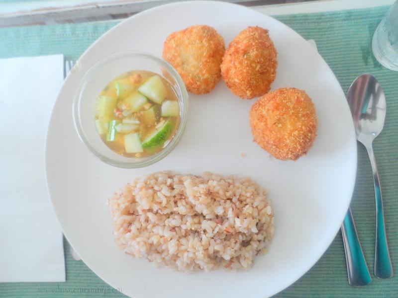 Sea Green Thai Fish Cakes with Cilantro Rice