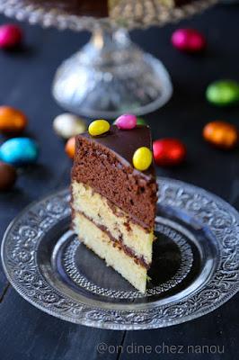 layer cake , gâteau multi couches , facile à faire , dessert de Pâques , recette traditionnelle