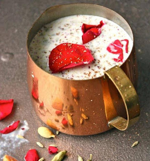 Gulkand Thandai, Healthy Summer Refreshing Drink