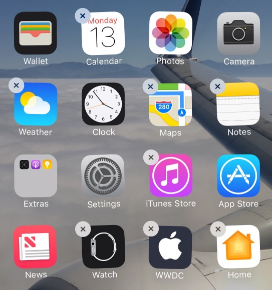 how to delete an application on iphone 10
