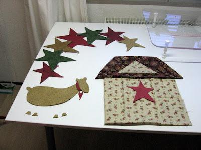 Kerstquilt voorbereiden