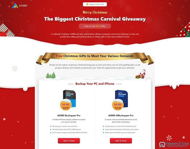 Offre promotionnelle : 11 programmes payants offerts gratuitement pour Noël !