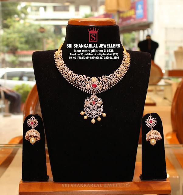 Diamond Jhumkas by Shankarlal