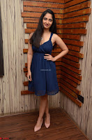 Radhika Mehrotra in a Deep neck Sleeveless Blue Dress at Mirchi Music Awards South 2017 ~  Exclusive Celebrities Galleries 056.jpg