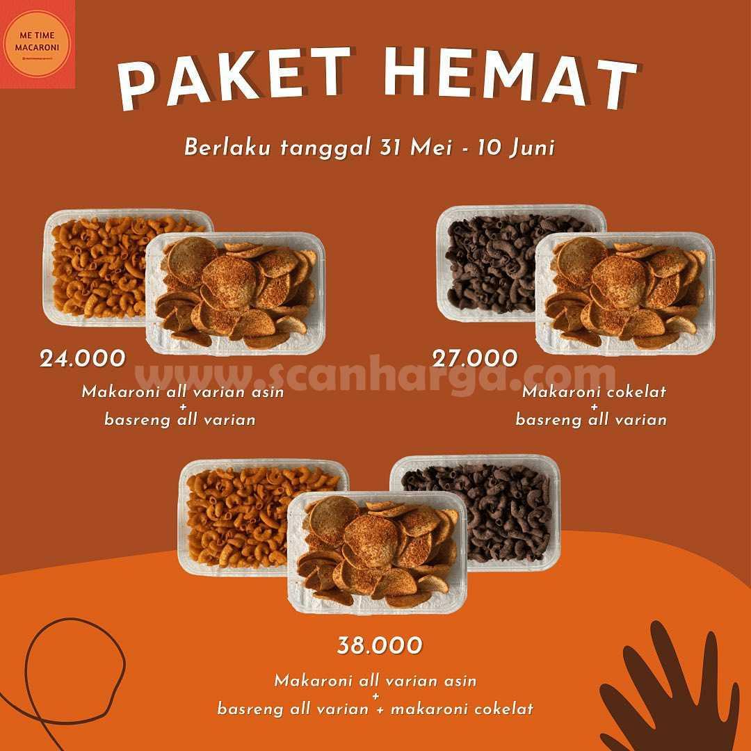 Promo Me Time Macaroni Paket Hemat harga mulai Rp 24.000