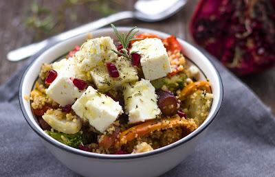 Gemüse Cous Cous mit mariniertem Fetakäse