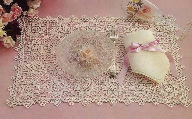 doily tablecloth crochet pattern - square and rectangular - Crochet Lace no:6
