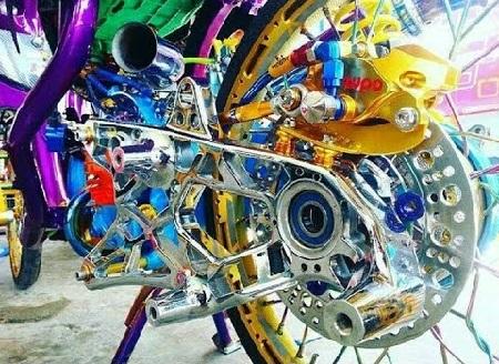 Modifikasi motor yamaha xabre