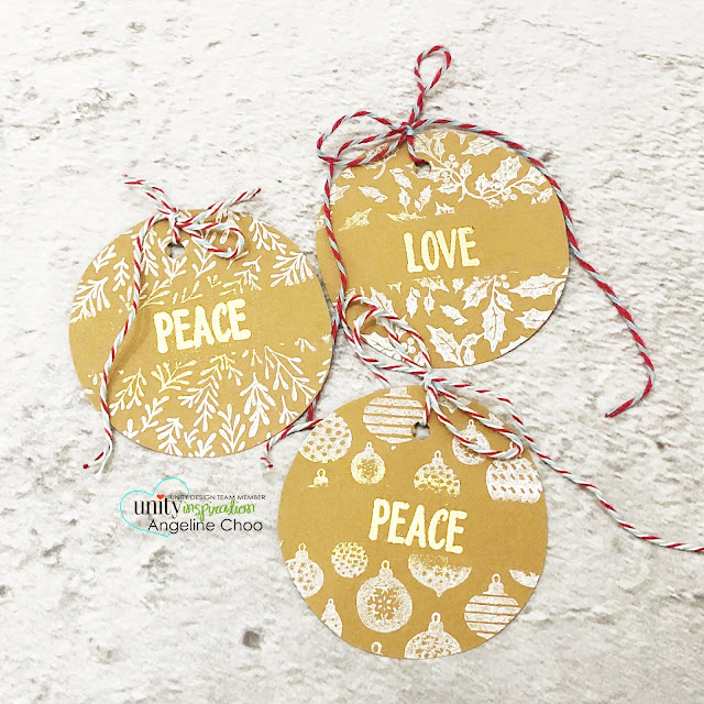 ScrappyScrappy: Unity Stamp Ornament Builders and Holiday inspired - Ornament Builders gift tag #scrappyscrappy #unitystampco #quicktipvideo #youtube #cardmaking #card #stamp #papercraft #ornamentbuilders #christmastag #gifttags #trendytwine #christmasornaments #embossing