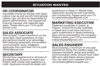 Qatari Newspaper jobs from 4-8/11/2018 - Qatar Jobs