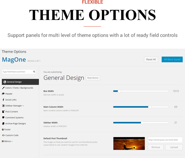 Sneeit Framework Plugin - Back-End for WordPress Themes - Theme Option Panels, Sections, Settings