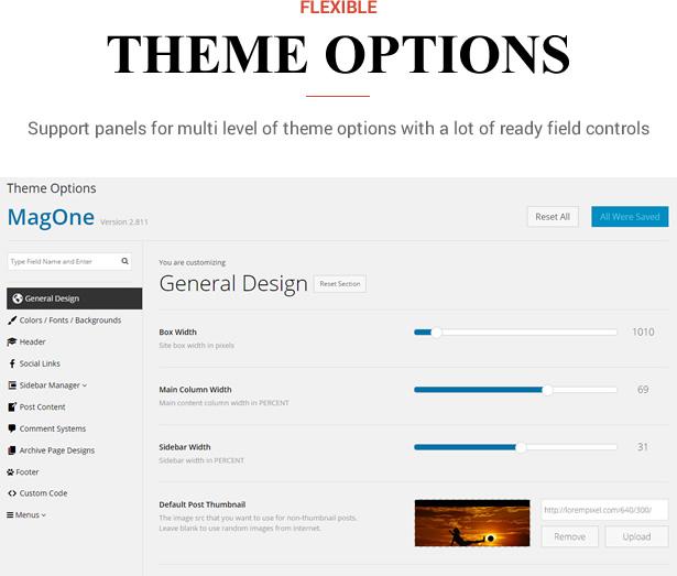 Sneeit Framework Plugin - Back-end para temas WordPress - Painéis de opções de tema, seções, configurações