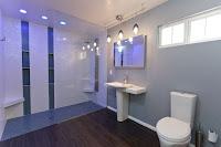 Modern Universal Design Bathroom Blue Tint from One Week Bath