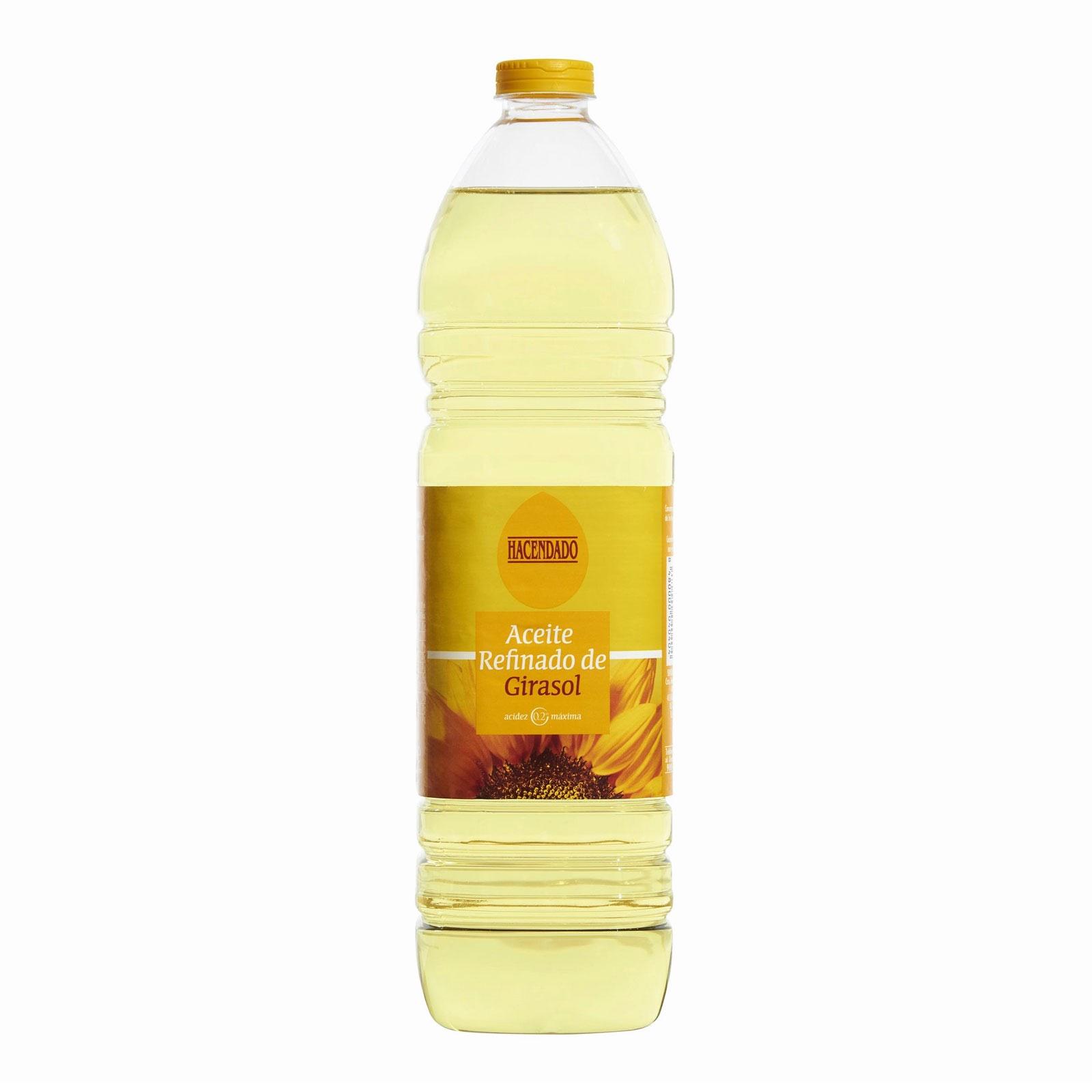 Aceite refinado de girasol Hacendado