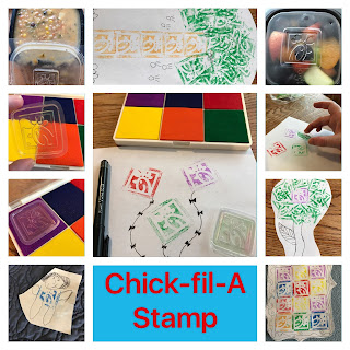 chickfilamomsdiy, upcycle, DIY, DIY stamp