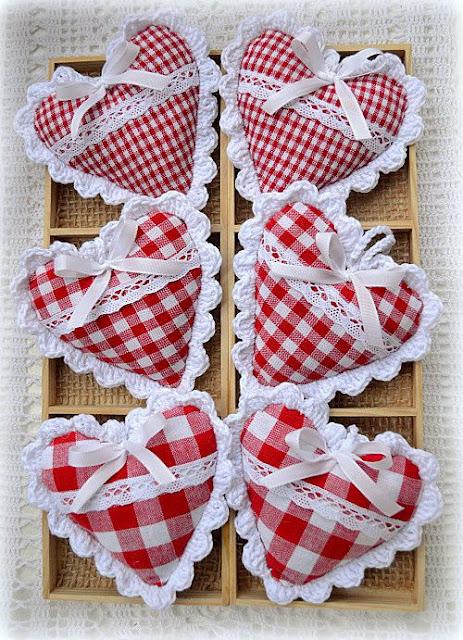 خياطة اكسسوارات ديكور على شكل قلب بعطر الخزامة