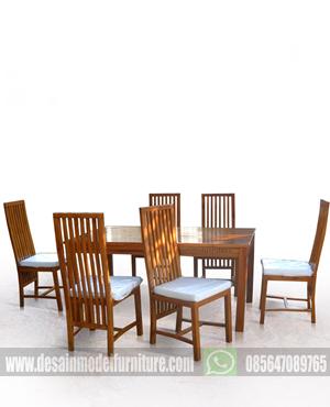 Set kursi makan restoran minimalis kayu jati paling murah