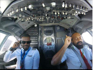 Nigerian Pilot shares Inspiring Videos encouraging people to worship wherever they are 1