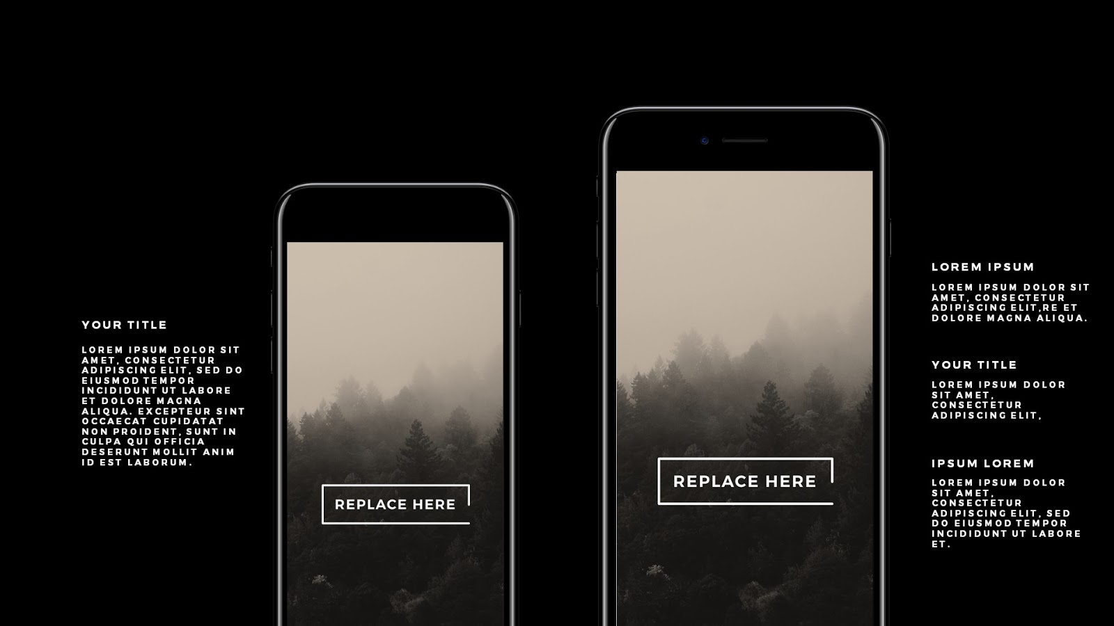 apple devices mockups free powerpoint template - infographicon, Modern powerpoint