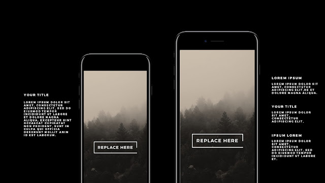 iPhone 7 Jet Black Mockup Free Powerpoint Template Slide 2