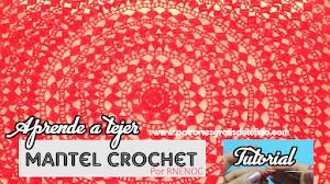 Hermoso mantel redondo a crochet / Tutorial en español