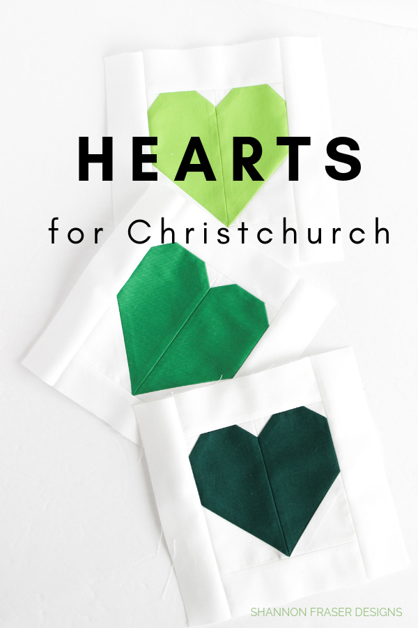 Hearts for Christchurch | Call to action for quilt drive | Shannon Fraser Designs