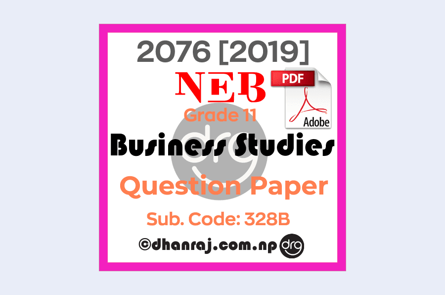 Business-Studies-Grade-11-XI-Question-Paper-2076-2019-Subject-Code-328B-NEB