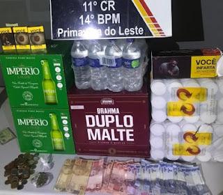 Trio é preso por roubar caixas de cerveja num mercado em MT