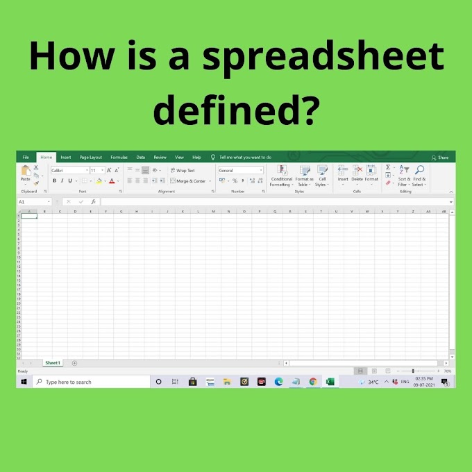 How is a spreadsheet defined?