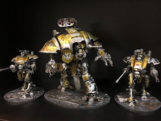 Imperial Knights and Helverins 40k Metallic Yellow