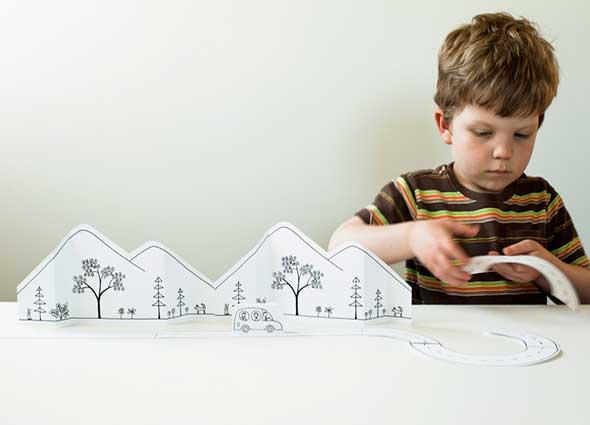 ciudad papel, recortables infantiles, recortables de ciudades, jugar, manualidades