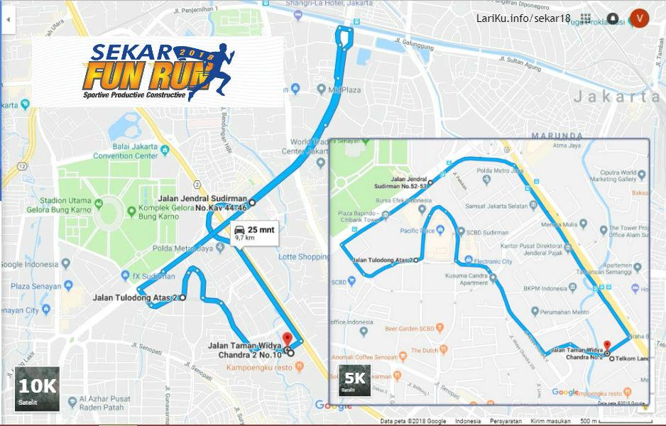 Sekar Telkom Fun Run Route 2018