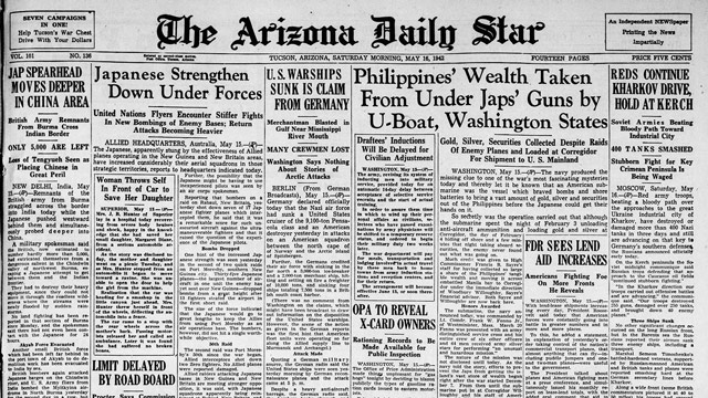 The Arizona Daily Star, 16 May 1942 worldwartwo.filminspector.com