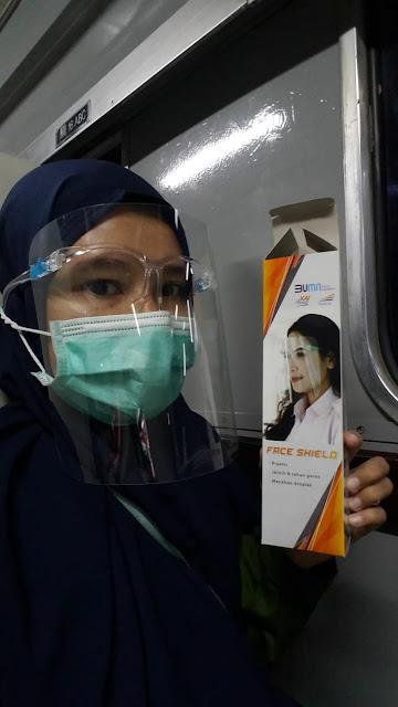 face shield kereta api