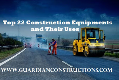 list examples of construction equipments and their uses