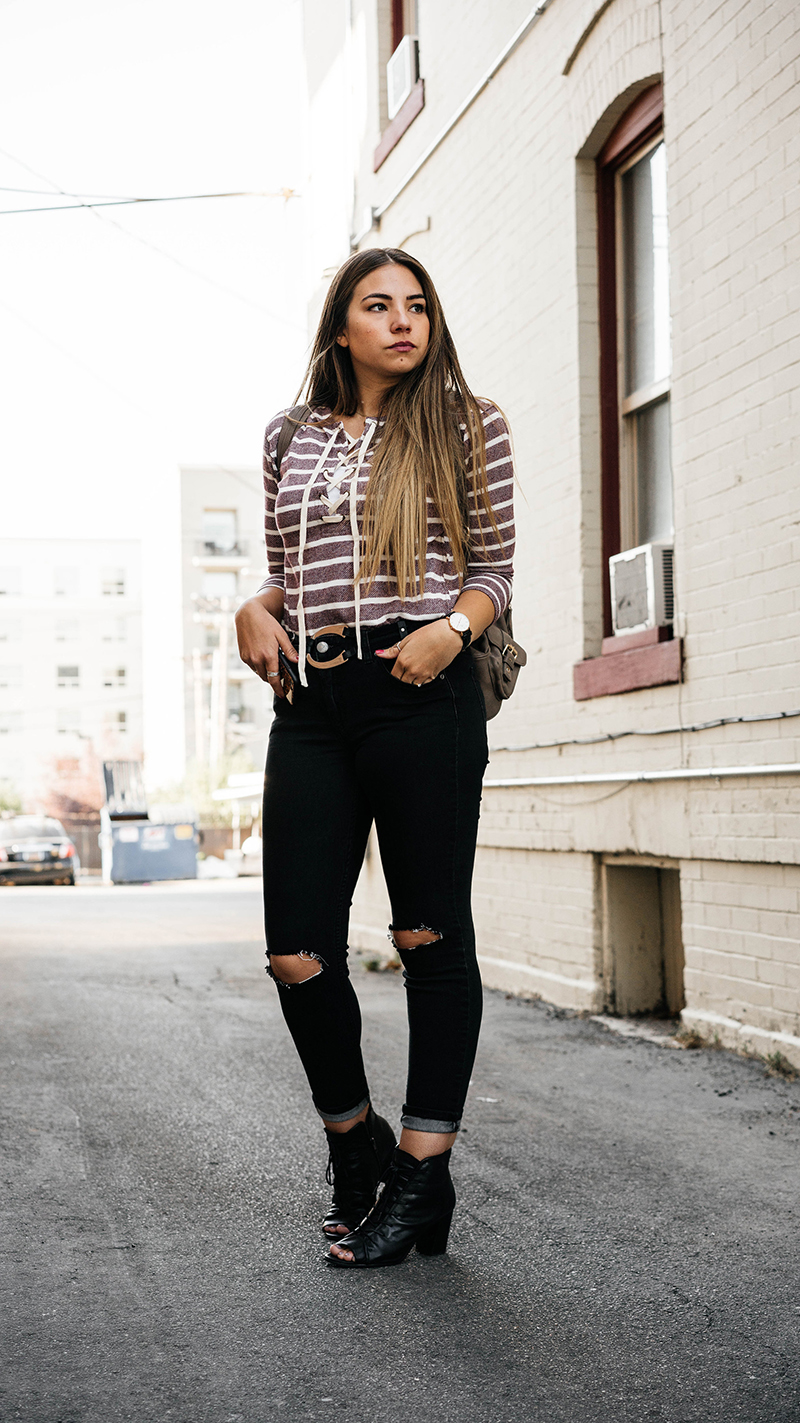 striped shirt, lucy and lyla, fashion blogger